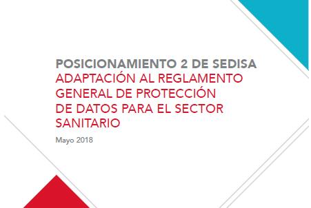 Posicionamiento SEDISA Protección de Datos